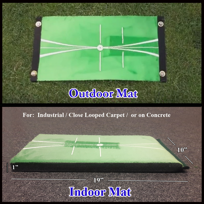 Two Mat Set Indoor and Outdoor Golf Impact Training Mats